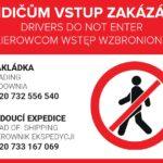 ridicum vstup zakazan