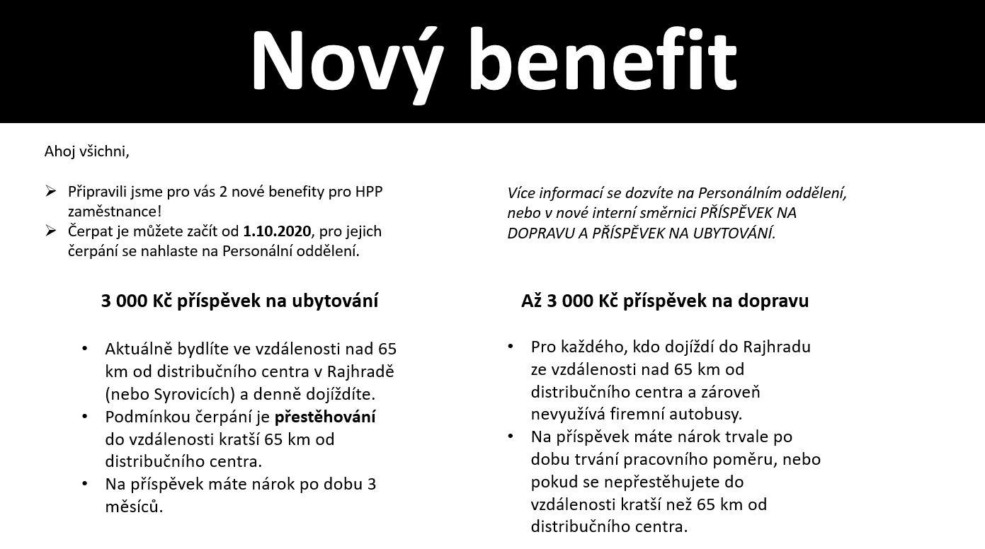 Nový benefit oprava